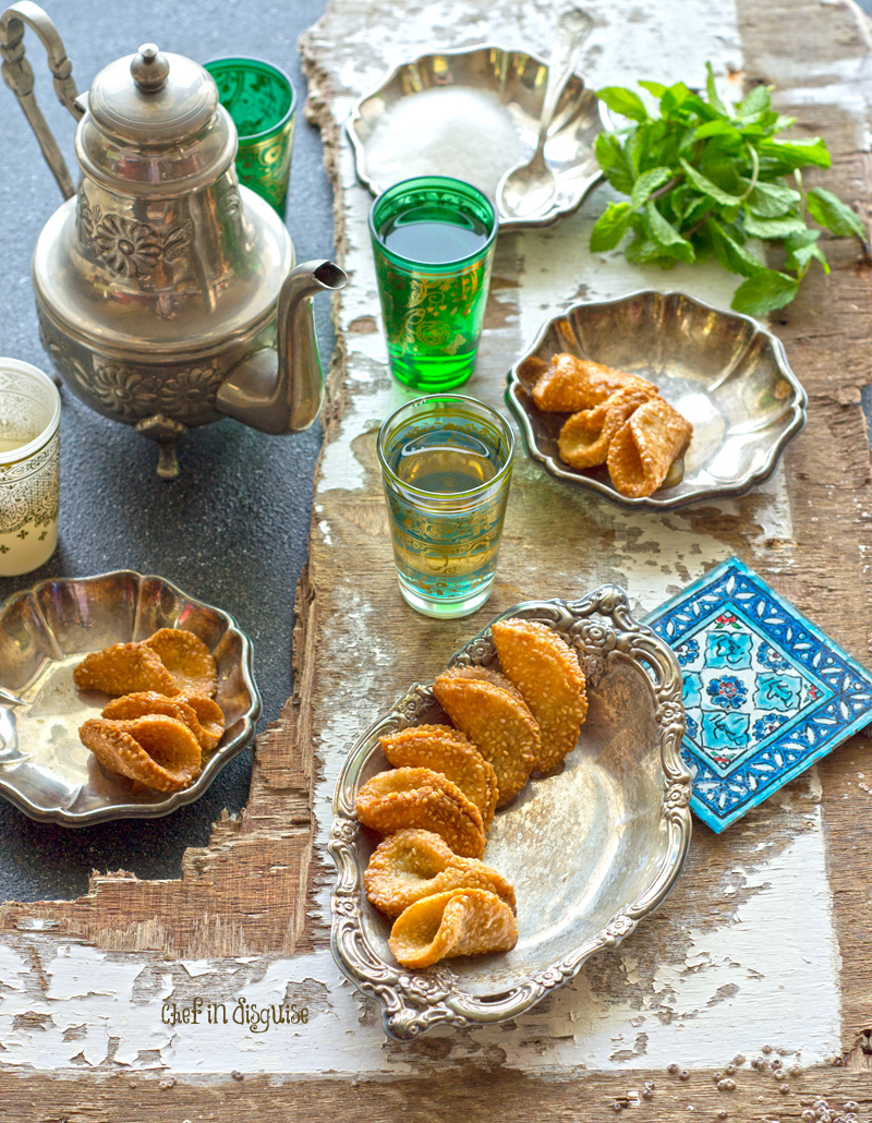 Babouches moroccan honey and sesame dessert