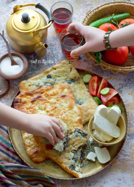Palestinian zaatar flat bread