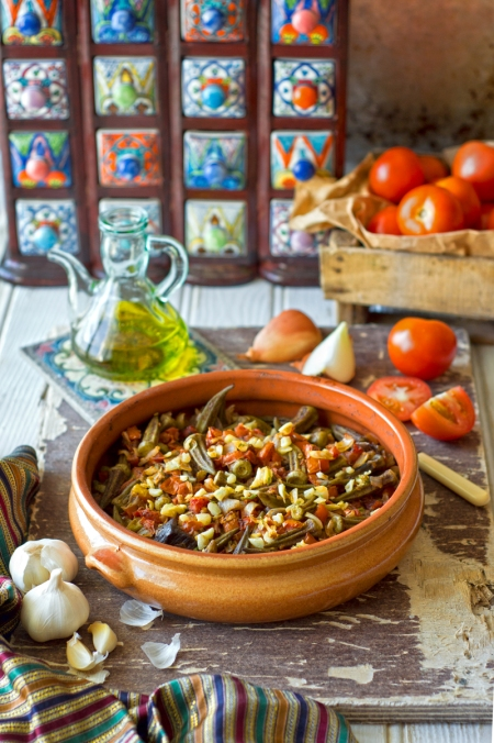Muslim food bloggers challenges chef in disguise middle eastern okra casserole bamieh forumfinder Choice Image