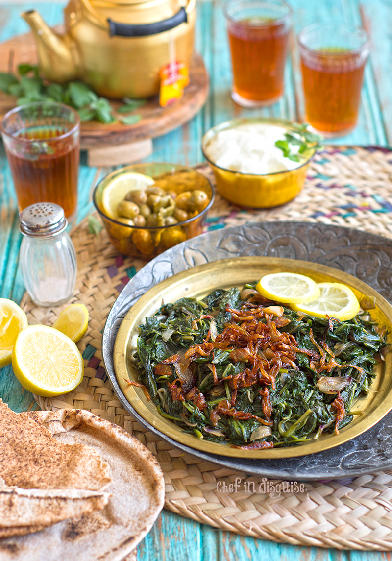 Hindbeh or dandelion greens. A must try vegan recipe from the middle east.