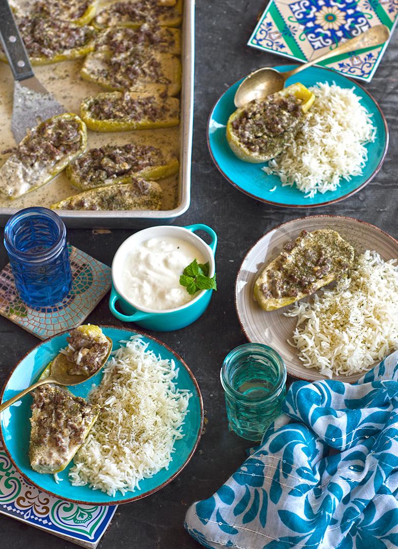 Kosa bil tahini (zucchini boats cooked in tahini sauce).jpg