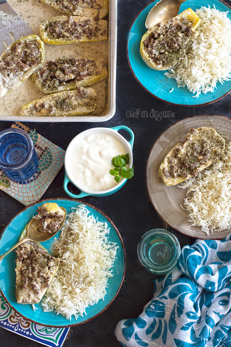 Zucchini boats cooked in tahini sauce.jpg