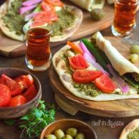 Baked falafel manakish wraps
