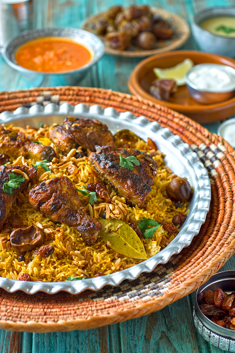 Chicken mandi a Yemeni master piece of smoky rice with perfectly seasoned meat