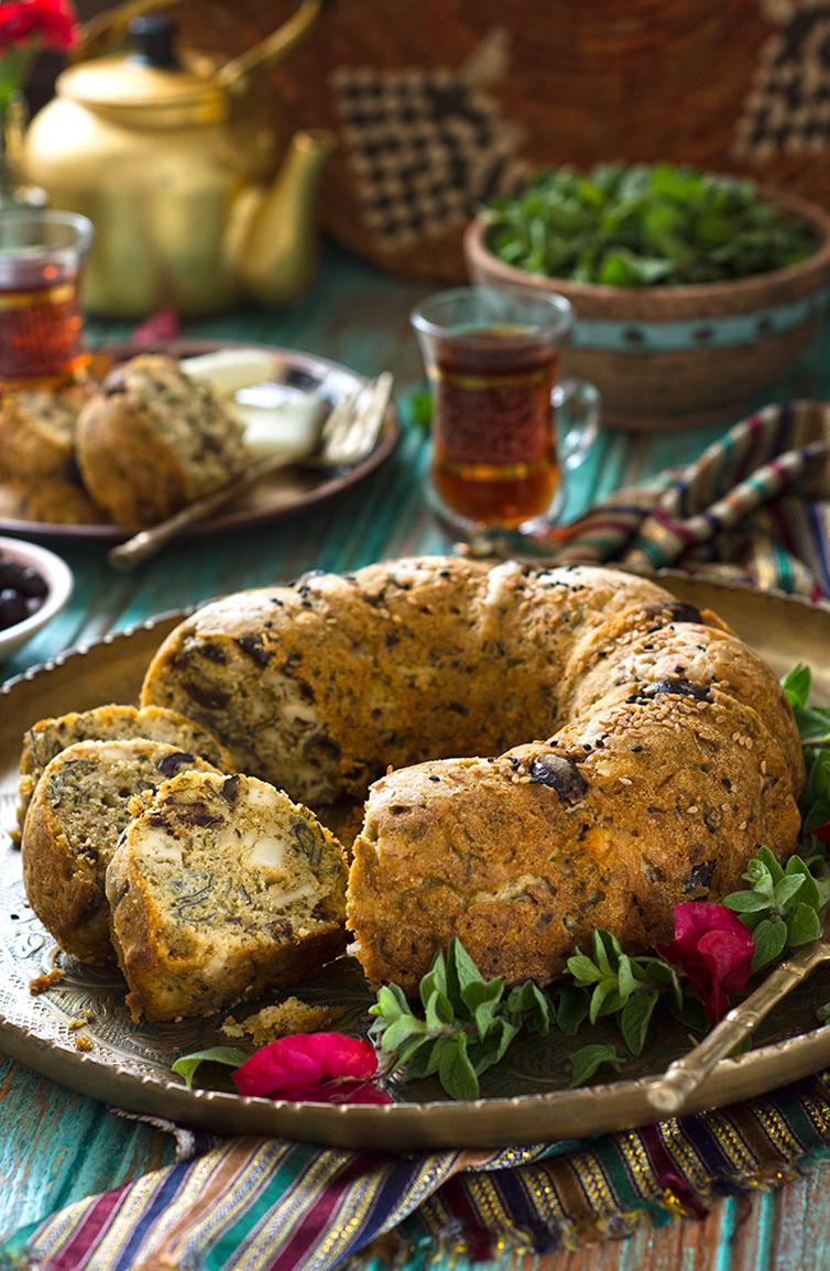 Savory  cheese and oregano cake