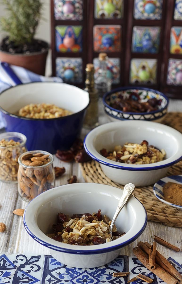 Middle Eastern Wheat porridge Kamhieh or burbara