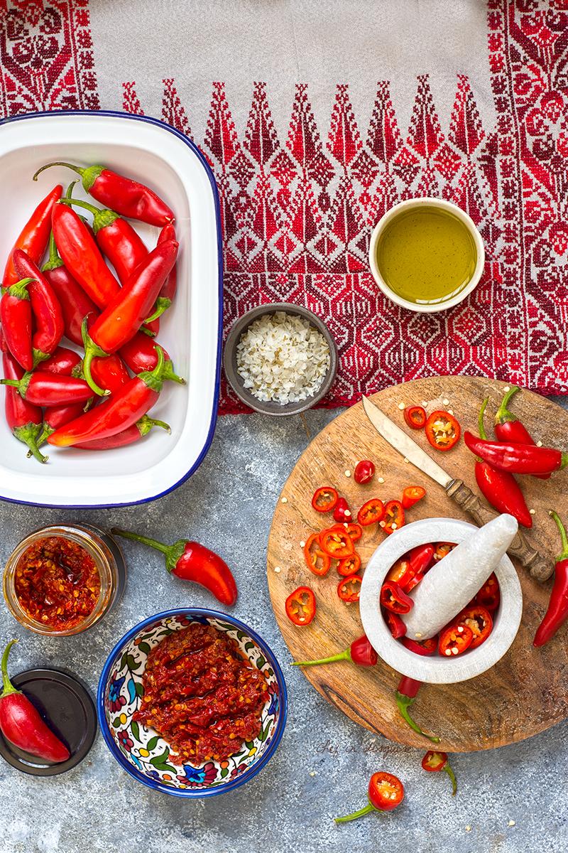 Palestinian shatta (red chili paste)
