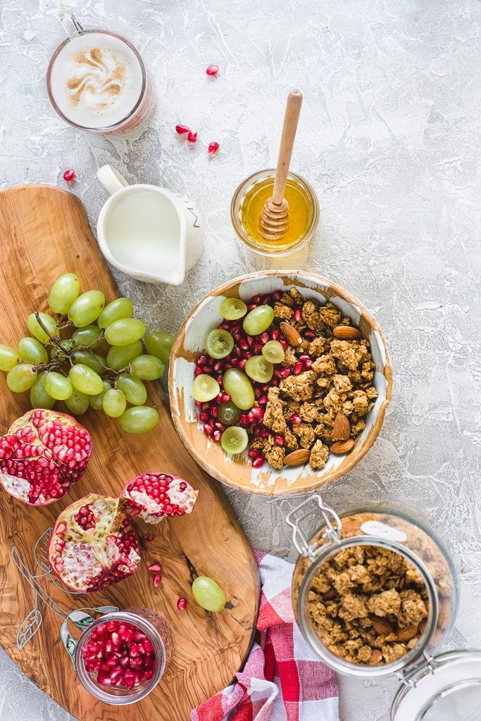 Tahini and molasses granola