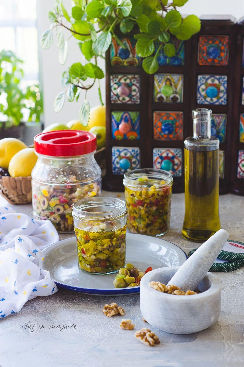 Green olive salad